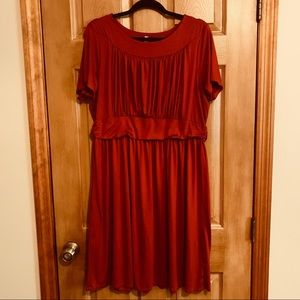 Modcloth Short Sleeve Knit Dress Plus Size NWOT
